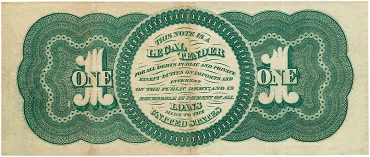 verso d'un billet américain de 1 $
