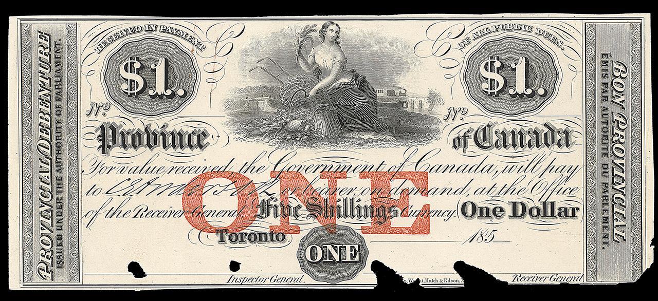 billet de banque canadien, allégorie des récoltes