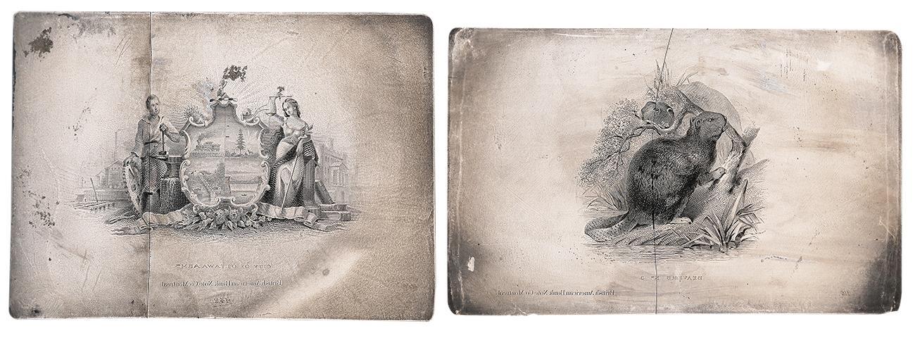 deux plaques d'impression