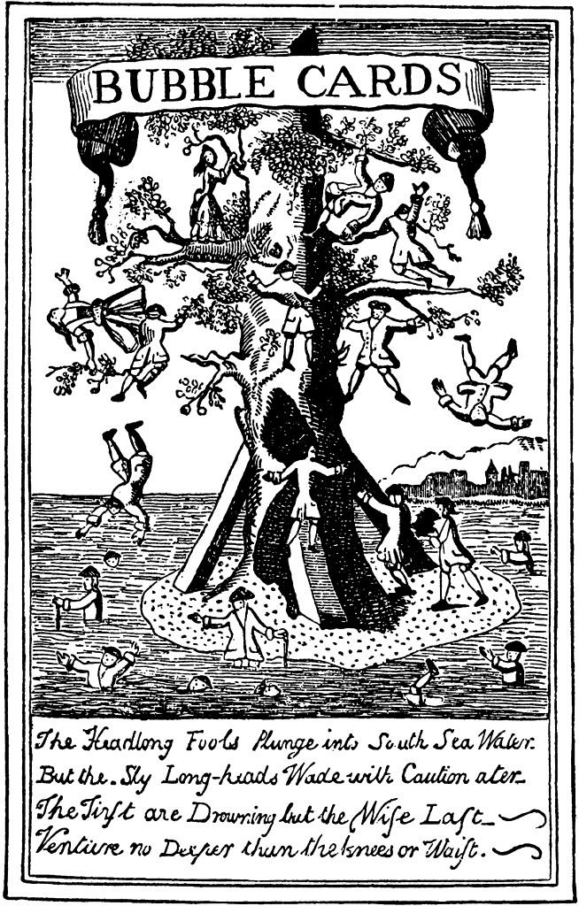 illustration du XIXe siècle où l'on voit des gens qui sautent du haut d'un arbre dans l'eau