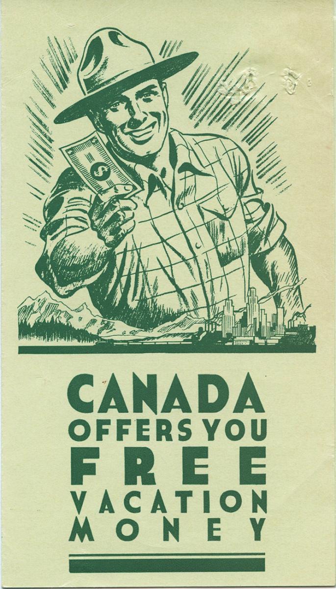carte illustrée d'un ranger tenant des billets de banque