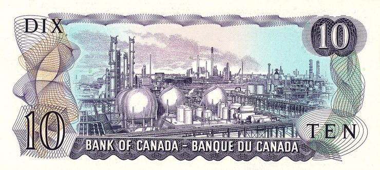 ancien billet canadien de 10 dollars