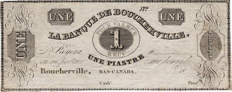 ancien billet de banque du Québec en français et en anglais