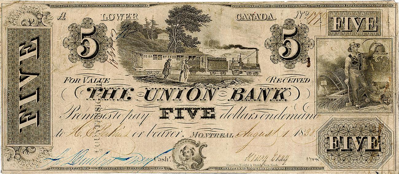 ancien billet de banque du Québec en anglais