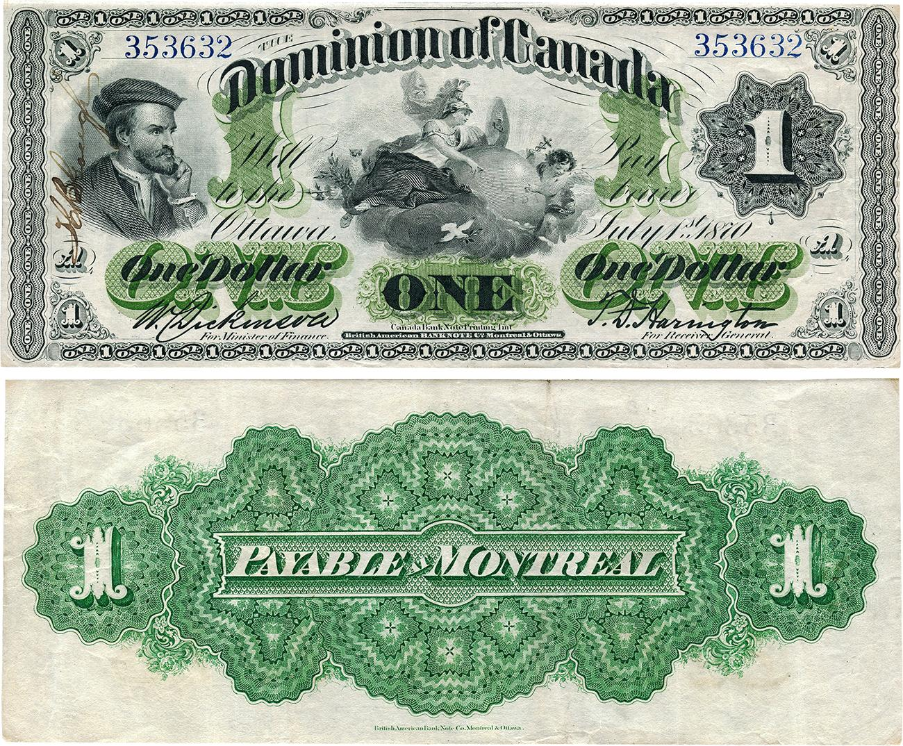 ancien billet de banque canadien
