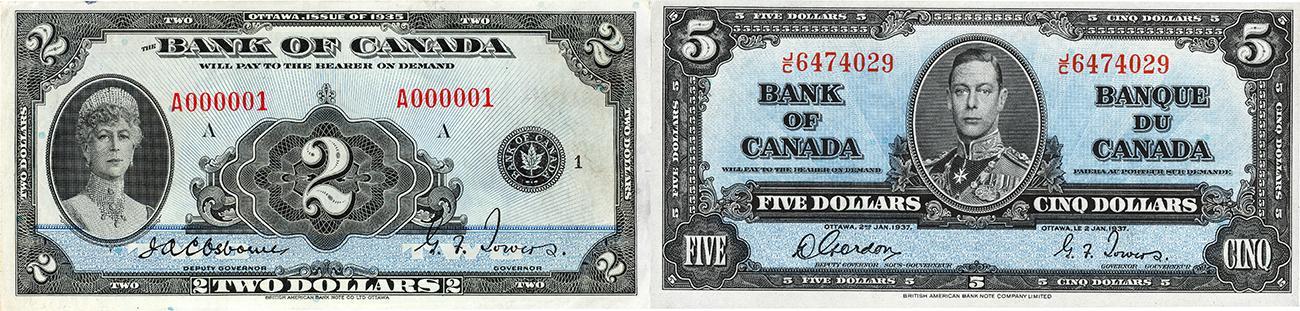 anciens billets de banque canadiens