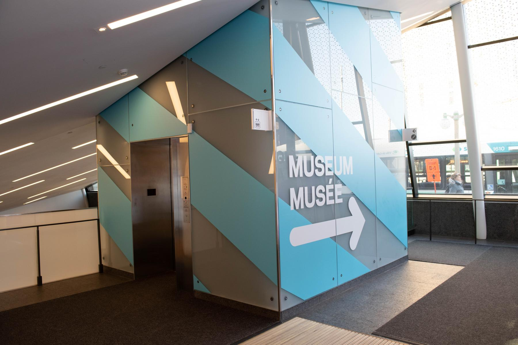 vue de l'étage supérieur de l'entrée du Musée