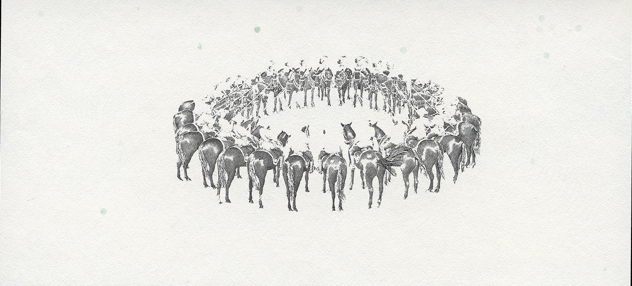 diaporama des cinq couches d'encre de la vignette de la GRC et l'image finale