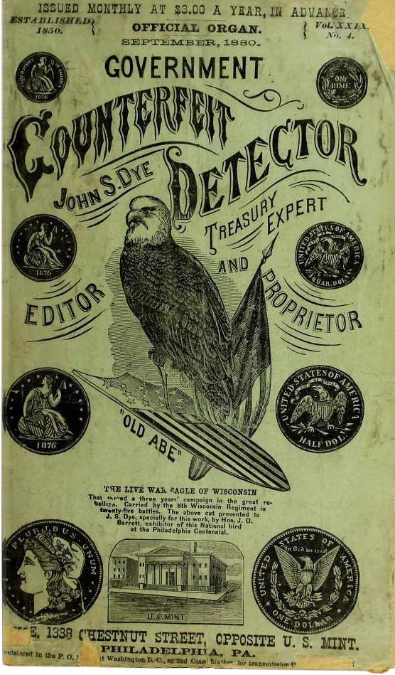 livret vert du 19ᵉ siècle orné d'un dessin d'aigle