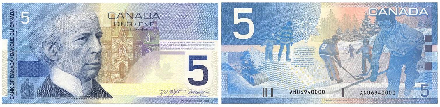 billet de 5dollars au verso duquel figurent des enfants en train de jouer