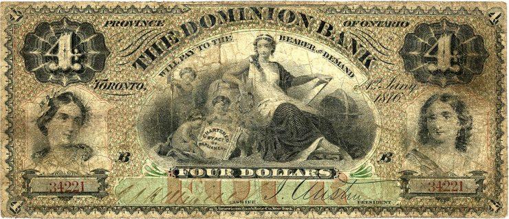 ancien billet de banque au graphisme chargé et détaillé
