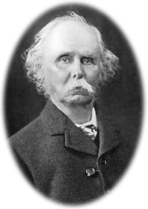 Photographie en noir et blanc d'un homme âgé aux cheveux blancs touffus et portant des vêtements du début du 20e siècle.