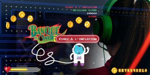 Un astronaute dessiné salue de la main devant le logo du jeu.